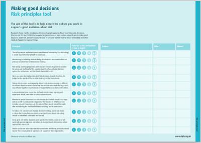 Case study 5 Tool 4 Risk Principles