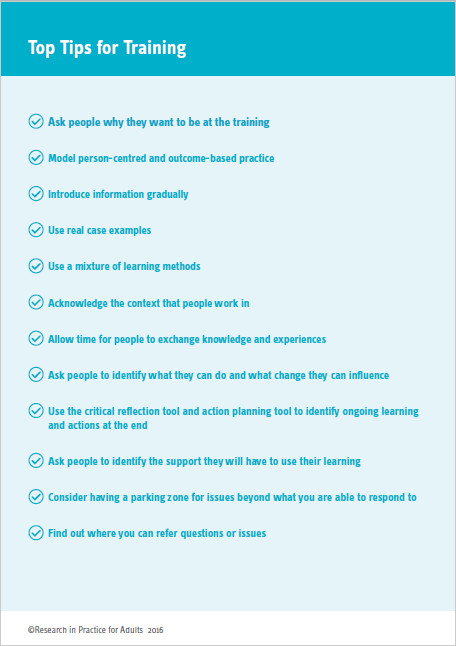 Top tips for training