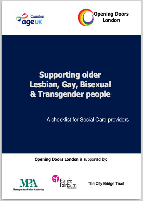 Supporting older Lesbian, Gay, Bisexual and Transgender people A checklist for Social Care providers