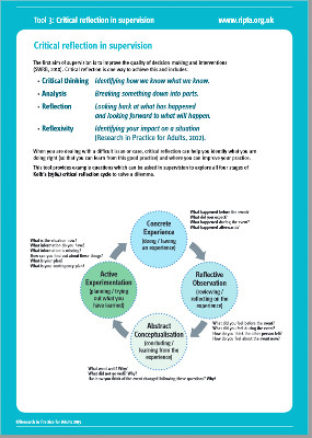 Critical reflection tool | Social Work Practice with Carers